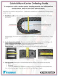 Cable & Hose Carrier Ordering Guide