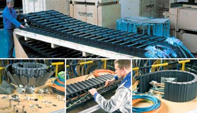 TotalTrax Turn-Key Systems – Fully Harnessed Cable Carrier Systems