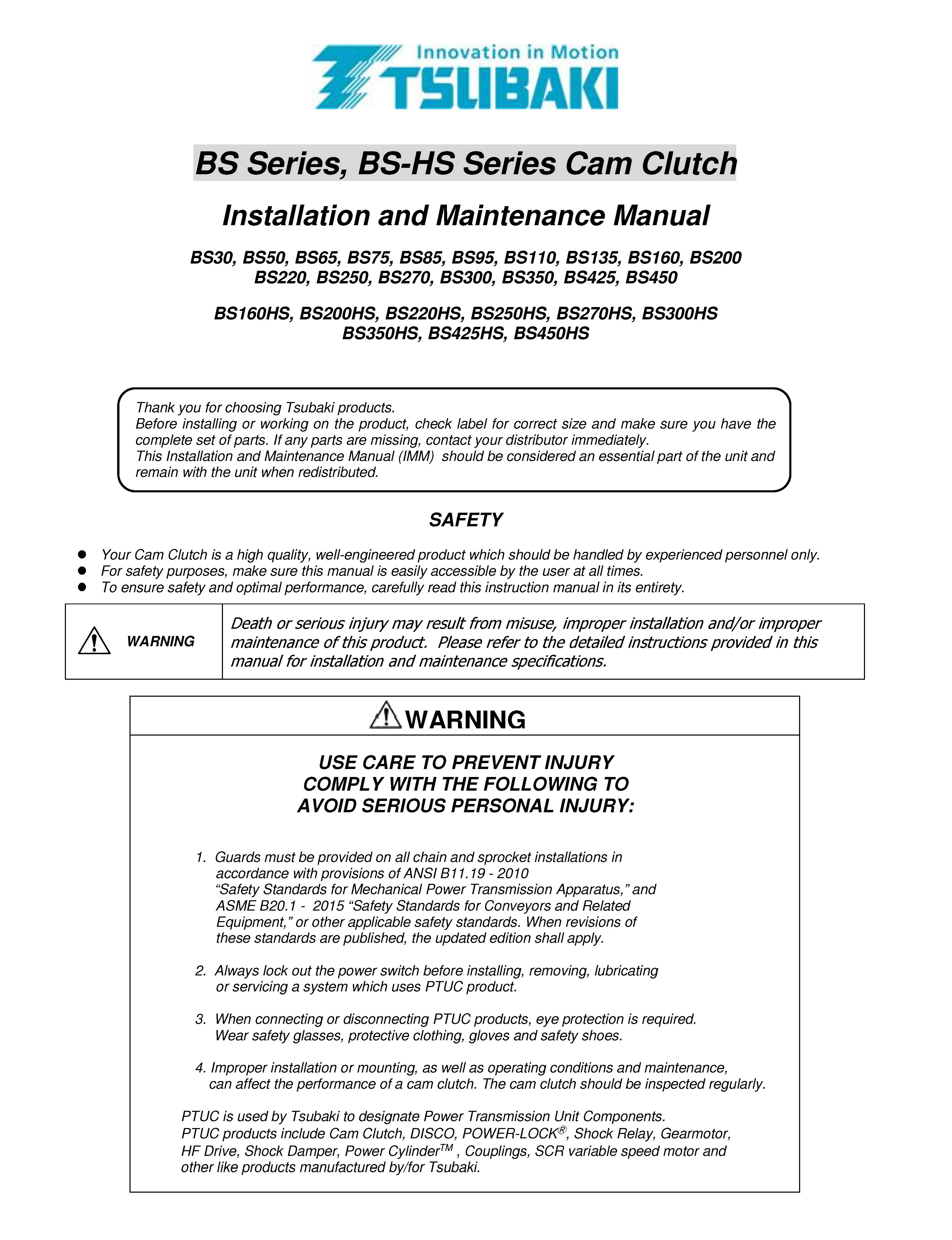 BS Series Instruction Manual